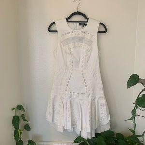 Robert Rodriguez white lace dress